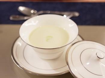 枝豆と豆乳の冷製スープ