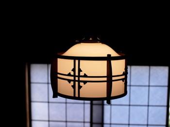 昭和レトロなランプシェード
