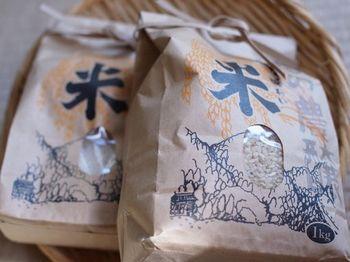 美山錦玄米とミルキークイン